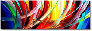 Seekland Art Handmade Acrylic Painting Abstract Canvas Wall Art Modern Contemporary Artwork for Home Decoration (Framed 48