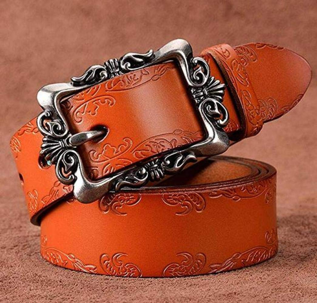 CTO Lady Carved Leather Belt - Einfacher Nadelgürtel,B,115Cm