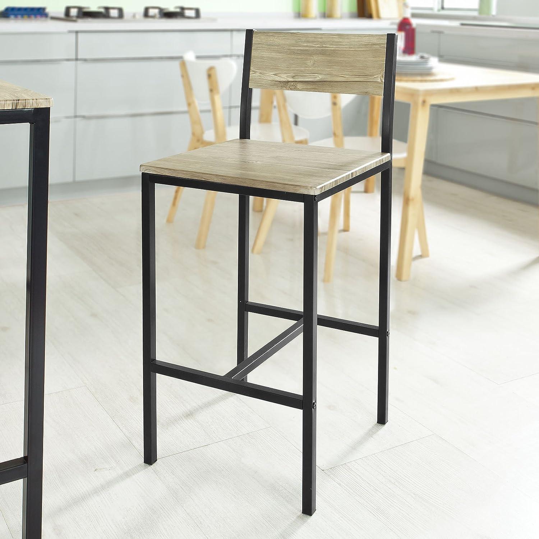 SoBuy® FST53-HGx2, Set of 2 Bar Stools, Kitchen Breakfast Bar Stools Barstools High Chairs Fst53x2