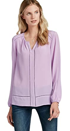 92adaa8872337b Lucky Brand Womens Silk Long Sleeve Blouse Top, Lavender, X-Small at ...