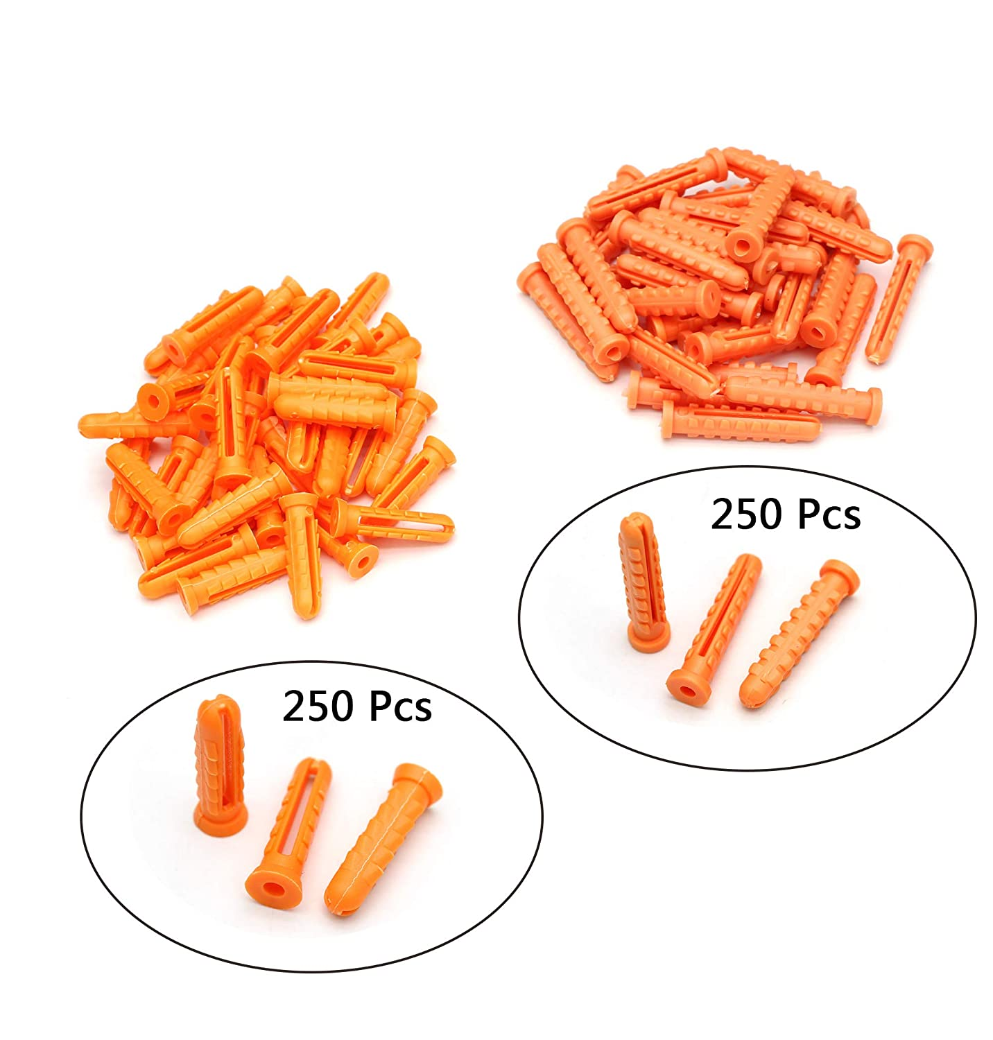 Hollow-Wall Anchors Orange 500 Pcs Tueascallk M6 x 25mm//M6 x33mm The Most Commonly Used Expansion Fastening Drywall Anchor