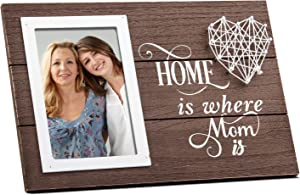 Mom Picture Frame,Mom Gifts Photo Frame fromDaughter,Mothers Day Rustic Picture Frames(4x6 Vertical),Son to Mom Gifts,Birthday Gifts for Mom,Mother in Law,Stepmom,Second mom-HOME is Where Mom is