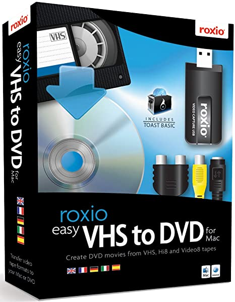 roxio vhs dvd  Roxio Easy VHS to DVD for Mac: : Software
