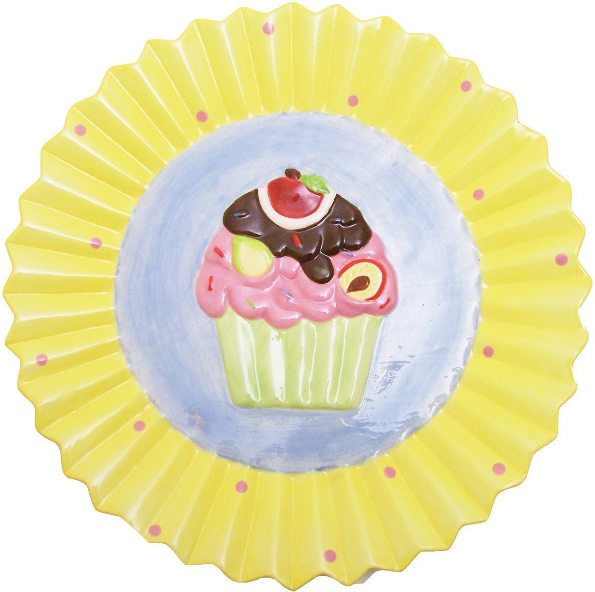 Sassafras Cupcake Dessert Plates: Kitchenware (Set of 4)