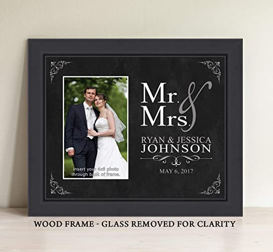 Amazon Personalized Mr And Mrs Picture Frame Wedding Gift