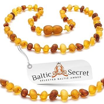 Amazon Com Amber Teething Necklace Unpolished Raw Amber Beads