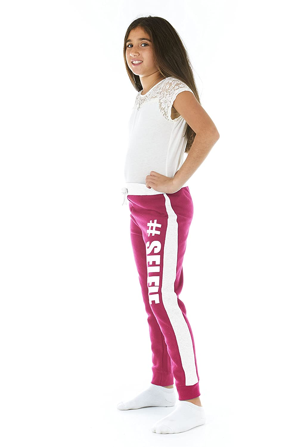 Crush Girls Brushed French Terry Printed Jogger Sweatpants (See More Styles) CGCSBFTPJF16-Parent