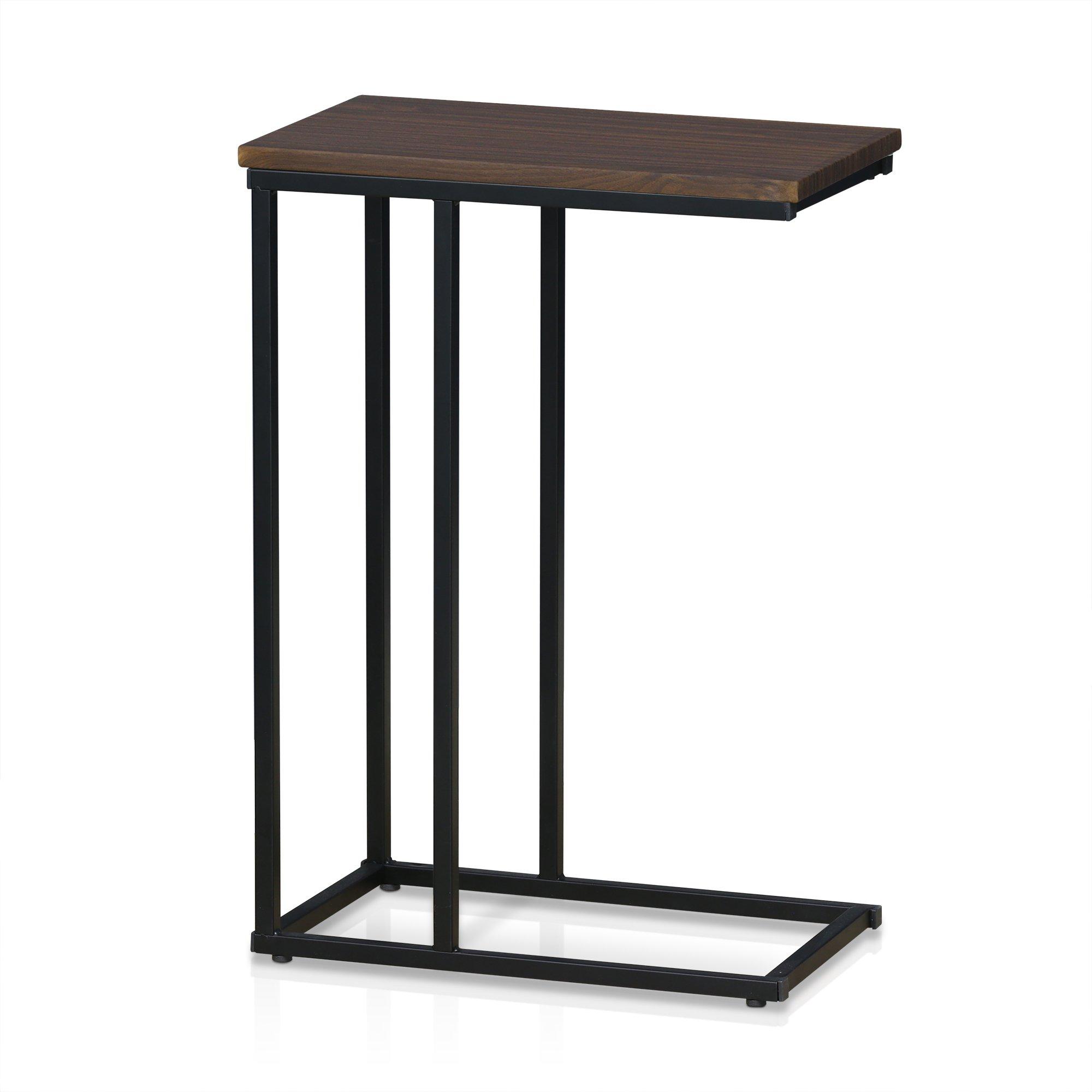 Furinno FM4563ST-1DW Modern Lifestyle Side Table, Dark Walnut