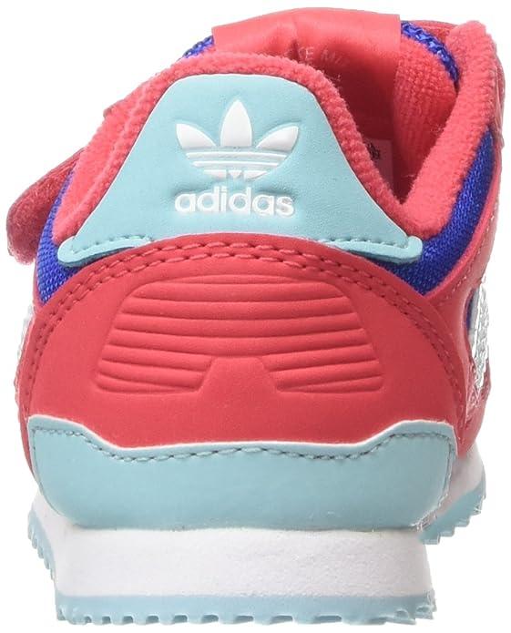 Adidas ZX 700 CF I - Zapatillas Unisex, Color Rojo/Azul/Verde/Blanco, Talla 20