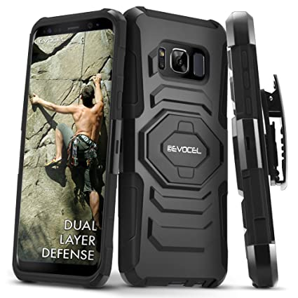 Galaxy S8 Active Case, Evocel [New Generation] Rugged Holster Dual Layer Case [Kickstand][Belt Swivel Clip] for Samsung Galaxy S8 Active SM-G892 (Does ...
