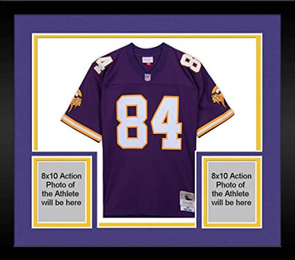 timeless design 20895 92ab2 Framed Randy Moss Minnesota Vikings Autographed Purple ...