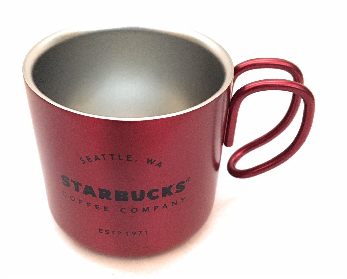 Starbucks 2017 Red Christmas Espresso Stainless Steel 3 Ounce Demi Mug