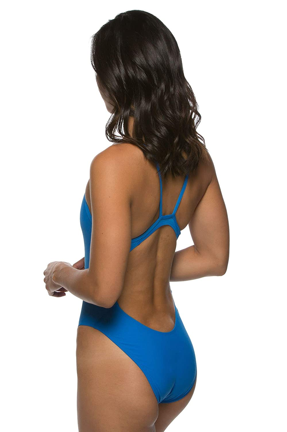 JOLYN Womens Fixed-Back Chevy One-Piece Athletic Swimsuit