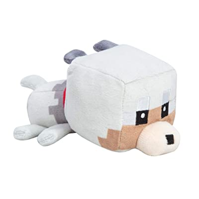 "JINX Minecraft Mini Crafter Tamed Wolf Plush Stuffed Toy, Gray, 5"" Long: Toys & Games"