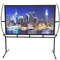 Toile Cinéma maison 233x139cm (100 '') 16: 9 Installation et utilisation faciles d'écran de projecteur mobile pour le cinéma à la maison et l'écran de projection extérieur
