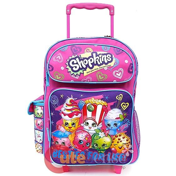 Amazon.com | Shopkins Small School Roller Backpack 12