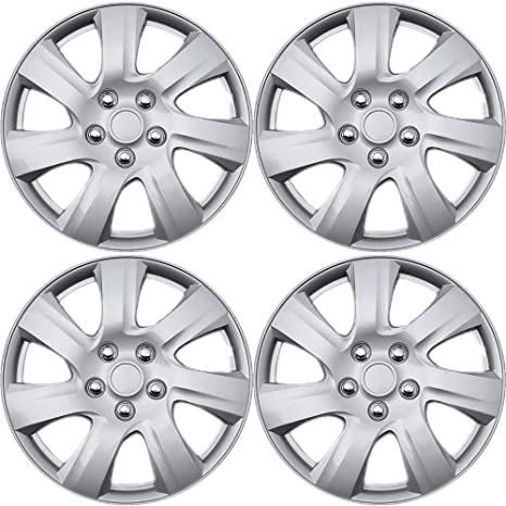OxGord 16 inch Hubcaps Best for 2014-2016 Mazda 3 - (Set of 4) Wheel Covers 16in Hub Caps Silver Rim Cover - Car Accessories for 16 inch Wheels - Snap On ...