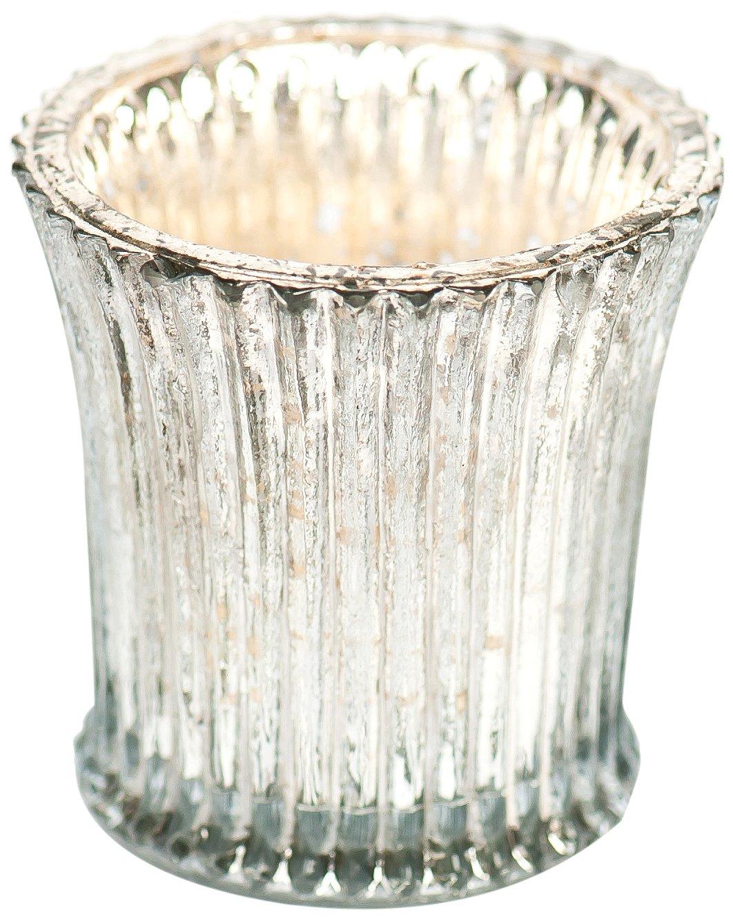 Insideretail TLV025MM72 Wedding Tea Light Holders: Vintage Fluted Glass Votives - Set of 72