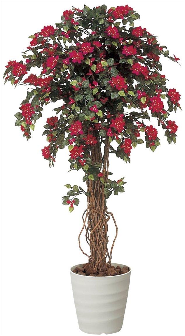 観葉植物 造花 「ブーゲンビリア 」 光触媒(空気清浄) インテリアグリーン  (W85×D85×H160cm) B06XKVSSQL