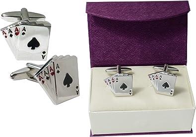 Diseño de hombre Poker - cuatro Ases gemelos - en caja de regalo ...
