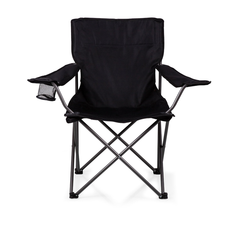 Picnic Time PTZ Portable Folding Camp Chair, Black [並行輸入品] B01IRFTYXI