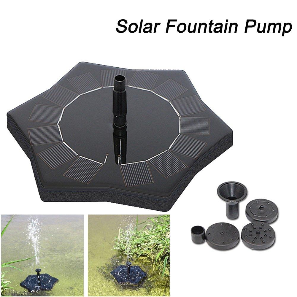 cheerfullus Solar Powered Floating Fountain Pump Birdbath Watering Kits for Garden Pool Floating Pump