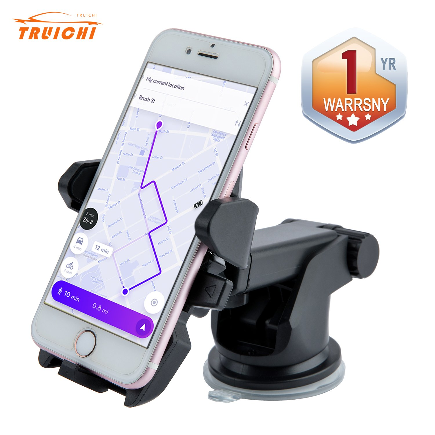 Car Phone Mount Holder Broader View Cell Phone Bracket Stable Windshield Dashboard Phone Stand For IOS Series/Android Series