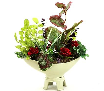 Amazon Com Patique Dining Table Centerpiece Silk Flower Arrangement