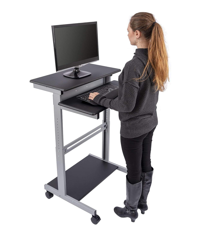 Mobiler ergonomischer Stand-up-Computerschreibtisch Stand-up-Computerschreibtisch Stand-up-Computerschreibtisch (Schwarz, Schreibtisch Länge  100cm) 099b12