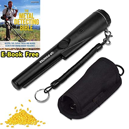 Portable-Metal-Detector-Finder-Pinpointer Handheld Treasure Finder Wand Waterproof Probe Detectors with Holster for Locating Gold, ...