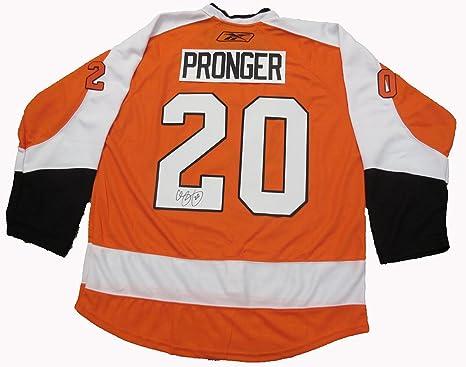 d6983b1d7 Chris Pronger Autographed Philadelphia Flyers Jersey W PROOF ...