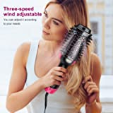 COIF Heated Straightening Brush with Temperature Control Ceramic Heating Detangling Air Brush With ion Curling Dryer Brush