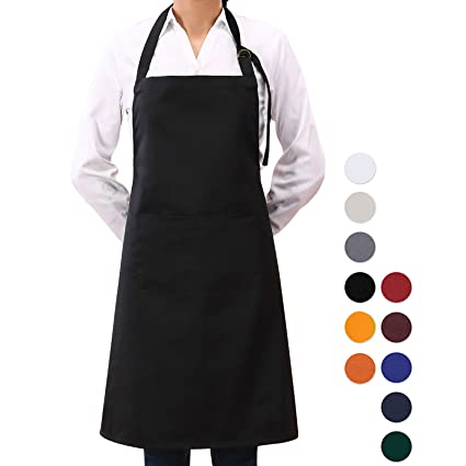 LLLucky Half-length Apron Long Waist Chefs Aprons Catering Chefs Waiters Uniform