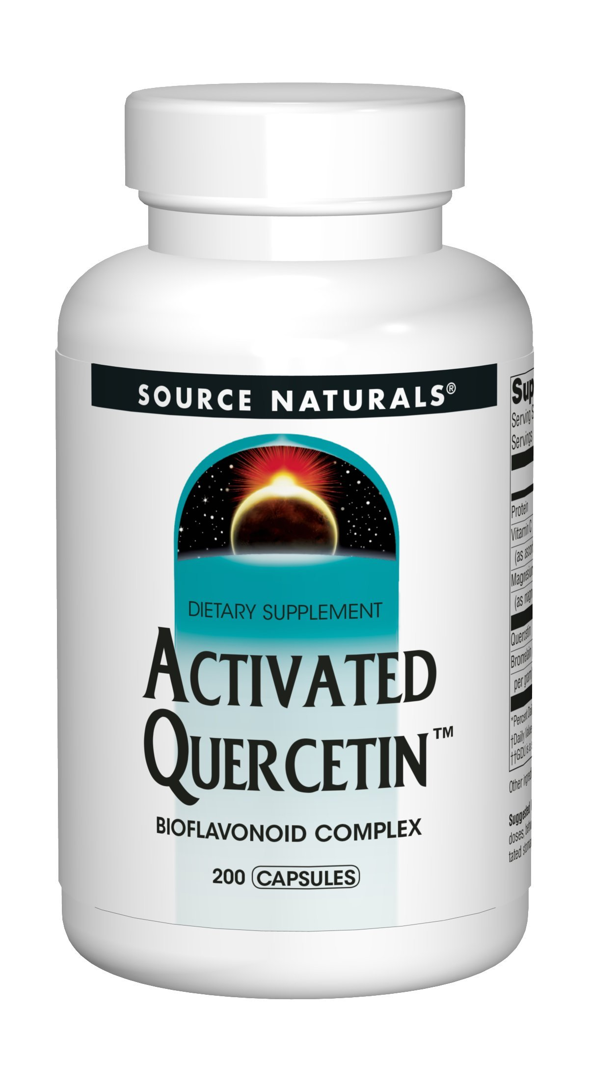 Source Naturals Activated Quercetin - Plant-Derived Bioflavonoid Complex - Seasonal & Immune Defense - 200 Capsules