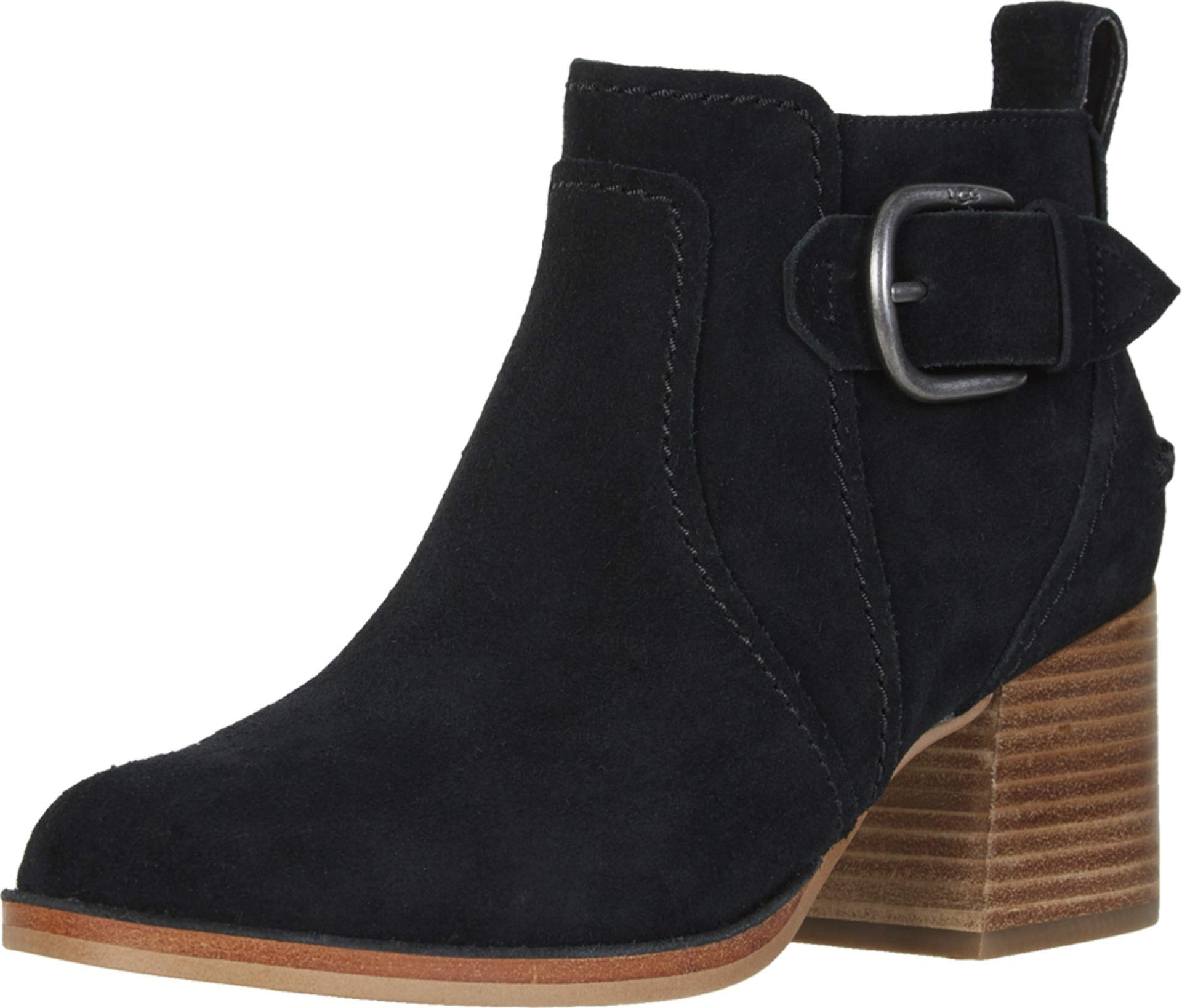 UGG Women's Leahy Ankle Boot, Black, 6.5 M US by UGG