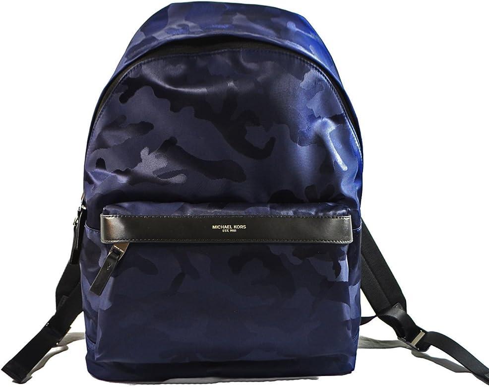 Michael Kors Kent Nylon Backpack For Work School Office Travel (Camouflage Indigo)