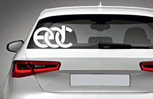 EDC Electric Diasy Carnival Vinyl Decal - for Car Laptop MacBook Phone Truck Bumper Window Wall Bathroom Bedroom Door Decals Sticker Logo Made in USA!