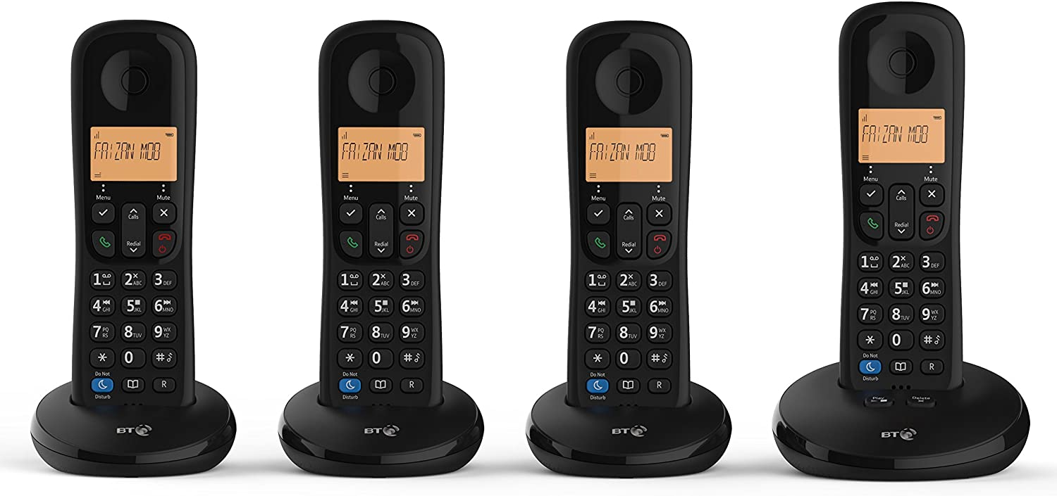 BT Everyday Cordless Home Phone with Basic Call Blocking and Answering Machine Trio Handset Pack