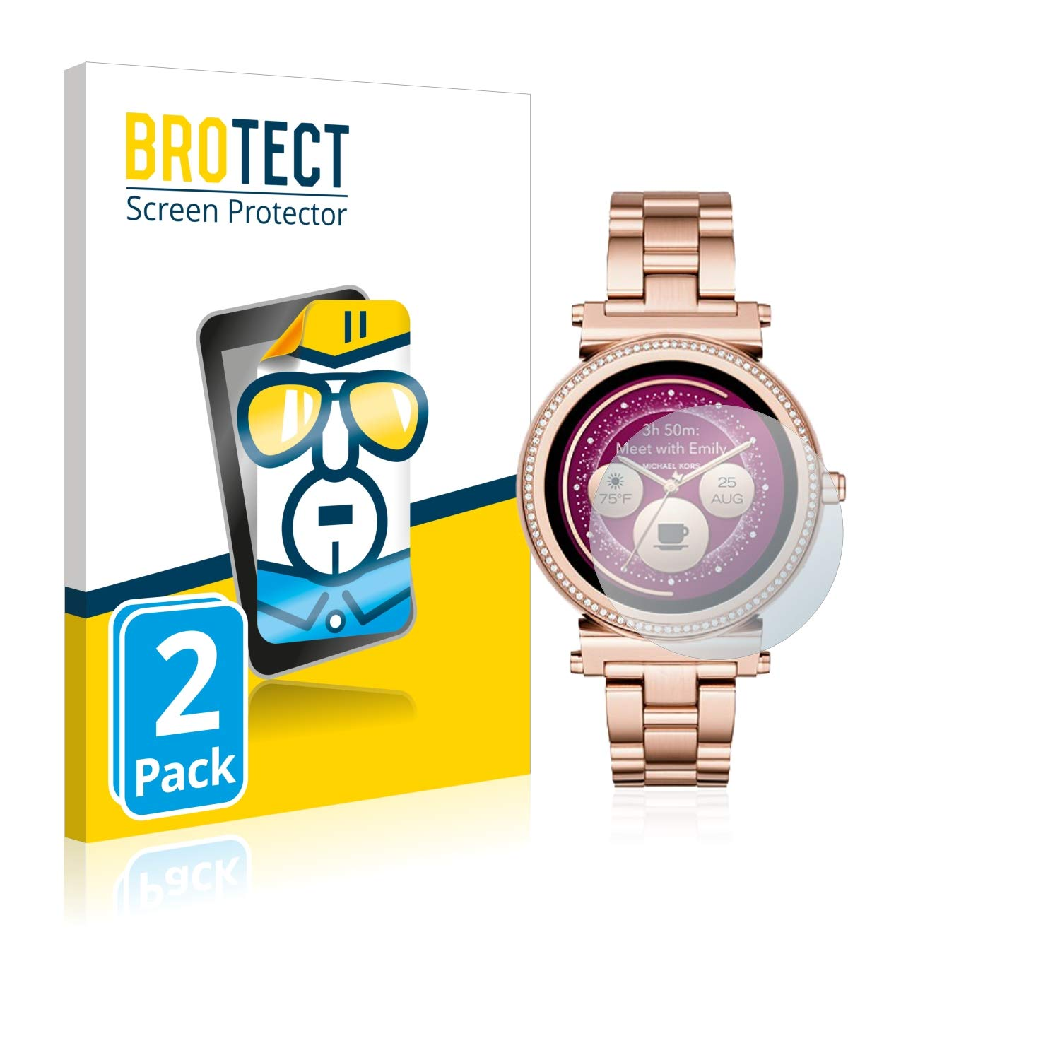 6dfb91580fd4 BROTECT Screen Protector for Michael Kors Access Sofie  Amazon.co.uk   Electronics