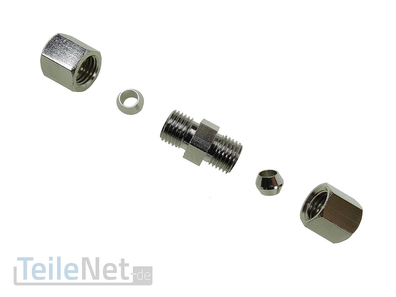Bremsleitungsverbinder 4,75mm Schnellverbinder 4 Stück Bremsleitung 2m Reparatur