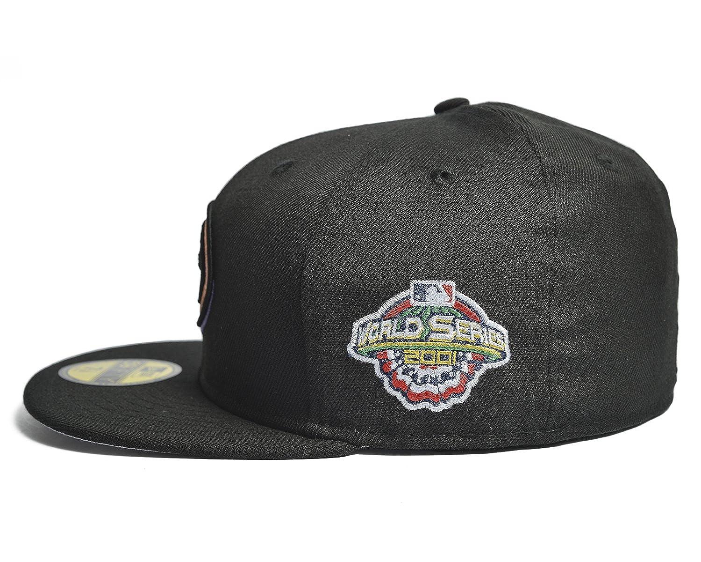 Amazon.com  New Era Arizona Diamondbacks MLB 2001 World Series Patch  59FIFTY Cap Black Grey Bottom  Clothing 563a636583d