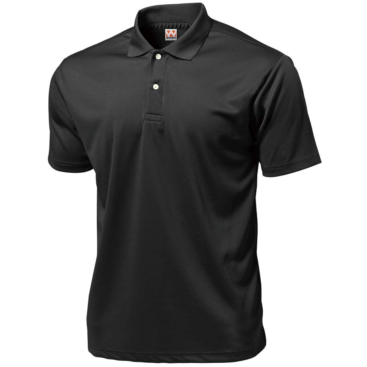 Wundou Boy's Sports Dry Light Polo-Shirts P335?140CM(55'')?Black