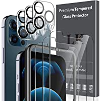 6 Pack LK 3Pcs Screen Protector Compatible with iPhone 12 Pro Max 6.7 inch & 3Pcs Camera Lens Protector Anti-Scratch…