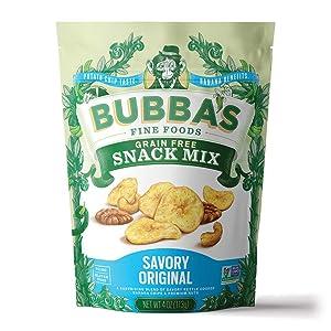 Bubba's Fine Foods Paleo Snack Mix | Savory Original 4oz (Pack of 6) | Savory Saba Banana Nut Mix