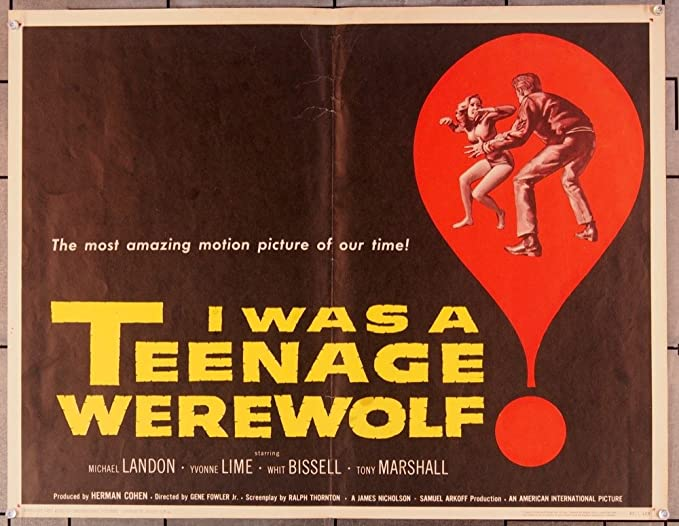 Image result for i was a teenage werewolf 1957