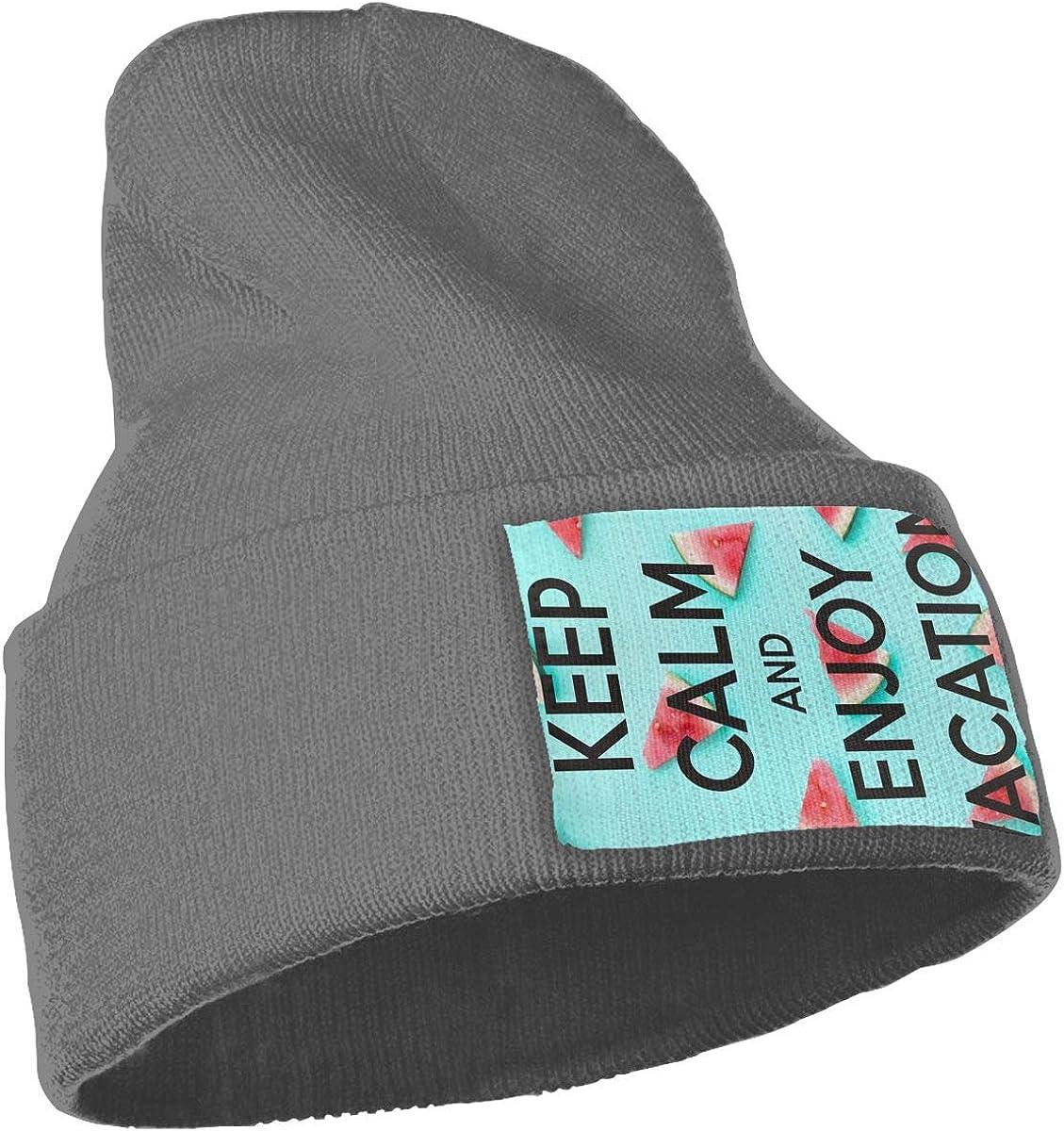 Z-YY Keep Calm Watermelon Unisex Winter Knitting Woolen Hat Warm Cap