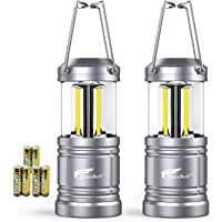 2 Pack Camping Lantern, Hausbell Ultra Bright Magnetic Base Portable Collapsible Outdoor LED Lantern Lights - Survival Kit for Emergency, Hurricane, Storm, Power Outage