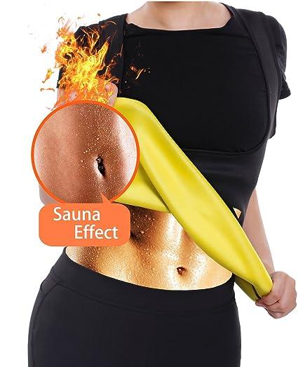 ad6e3a23c8 Amazon.com  Pullover Waist Sauna Shirt