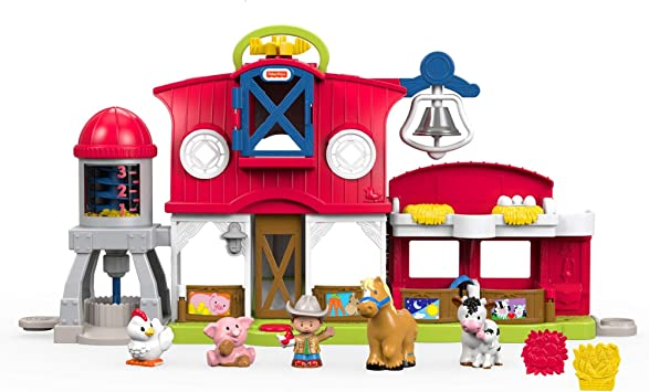 Fisher Price Fkd78 Little People Caring For Animals Farm Activity Toddler Role Play Farm Set Toy With Songs And Sounds Suitable For 1 Year Old Amazon Co Uk Toys Games