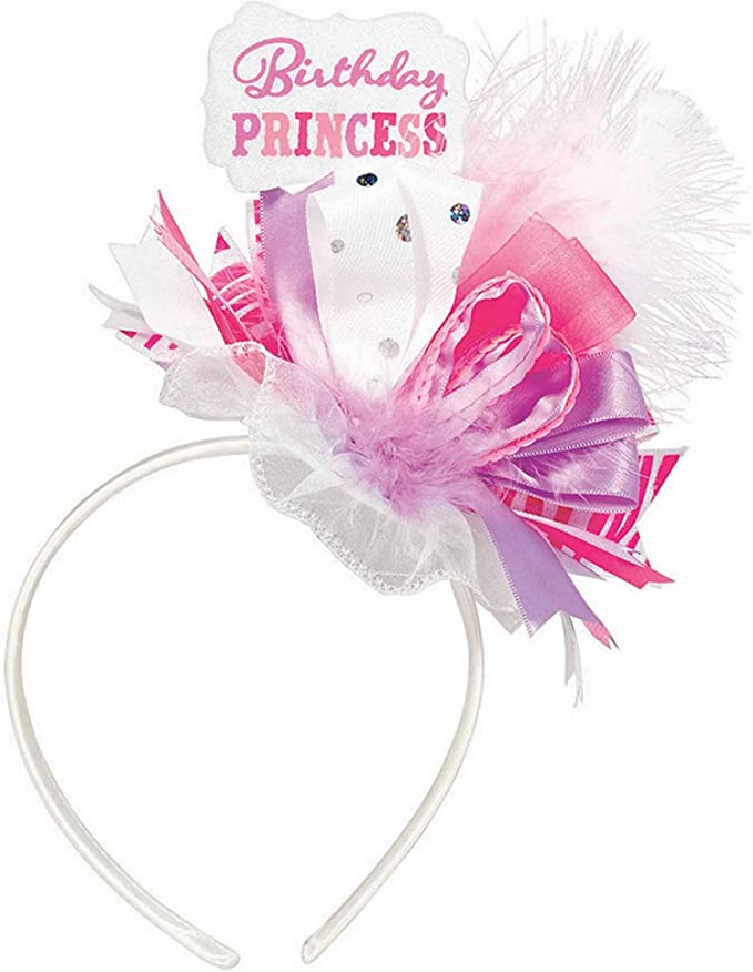 Brand New With Tag Bright Pink Headband With Crystal Effect Side Bow RRP £3.00
